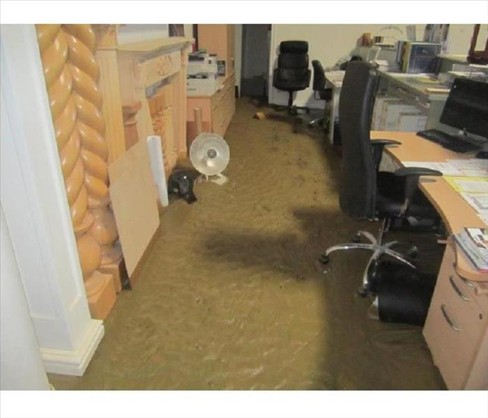 Underwater Office in Porter Ranch Before